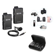 BOYA BY-WM4 Professional Lapel Microphone System Lapel Wireless Microphone