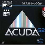 桌球孤鷹~桌球膠皮 DONIC S2 (紅-黑-2.0-max)~donic acuda s2 內能套膠新到貨!I