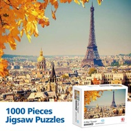 READY STOCK 70CM*50CM Puzzle 1000 Pcs  Adult Landscapes Famous Painting super hard jigsaw puzzles for anime scenery arou