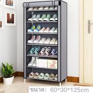 ชั้นวางรองเท้า ตู้เก็บรองเท้า 3ชั้น จำนวน 9 คู่ ผ้าคลุม กันน้ำ กันฝุ่น พร้อมช่องเก็บของด้านข้าง ตู้ใส่รองเท้า   ช..อุปกรณ์จัดเก็บรองเท้าคุณภาพ..!!