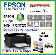 [Singapore warranty] READY STOCK Epson EcoTank L3150 Wi-Fi Mobile & Cloud printing A4 All-in-One Ink Tank Printer L 3150 (Free $20 NTUC voucher till 30/08/2020 , Online REDEMPTION by 14/09/2020)