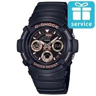 【CASIO 卡西歐】G-SHOCK 潮流專屬休閒錶-玫瑰金(AW-591GBX-1A4)
