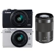 CANON EOS M100+15-45mm+55-200mm 雙鏡組*(中文平輸)
