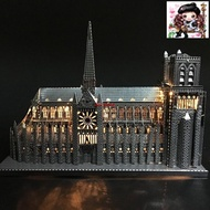 3D DIY Metal puzzle Notre Dame de Paris build model for adult/kids kindergarten educational diy toys