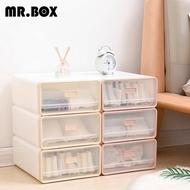 【Mr.box】日式抽屜式內衣小物收納整理盒收納箱(一組3入-兩色可選)
