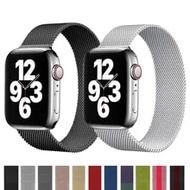 สำหรับ Apple Watch Series 5 5 5 5 5 5 6 3 SE แม่เหล็กสแตนเลสโลหะ IWatch Apple นาฬิกา Band 44มม.40มม.38มม.42มม.