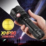 XHP90強光手電筒鋁合金戶外家用Q5小手電筒夜騎防水LED可充電