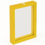 Yanoman  直立式透明框 迷你片 黃色  10X14.7cm  拼圖總動員  日本進口框