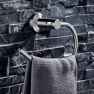 304不銹鋼拉絲毛巾架浴室毛巾環毛巾掛環毛巾圈掛毛巾環免打孔LX