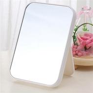 單面隨身化妝鏡面壁掛單桌辦公美容鏡折疊桌面書桌單單子壁掛白色1入