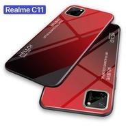 Case Realme C11 เคสเรียวมี เคสกระจกสองสี เคสกันกระแทก เคส realme c11 ขอบนิ่ม เคสกระจกไล่สี สินค้าใหม่