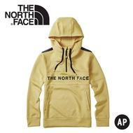 【The North Face 男 快乾保暖長袖帽T《卡其》】46HC/長袖上衣/休閒長袖/連帽上衣