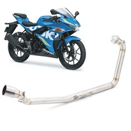 For SUZUKI GSX-R150 GSX-S150 Motorcycle Exhaust Pipe Middle Link Pipe Connect Tube Pipe Slip on Modified Link Tube Exhaust pipe Elbow Link GSXR150 GSX-R150 GSX150R GSX S150