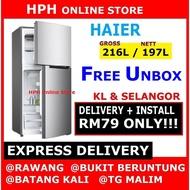 【PROMO】HAIER 2 DOOR FRIDGE REFRIGERATOR HRF-238H / HRF238H PETI SEJUK 电冰箱