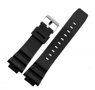 16mm Black Rubber Watch Band Strap Fits G-Shock DW-5300 DW-5900 DW-6000 DW-6100 DW-6200 DW-6600 DW-6695 DW-6900 DW-8700 G-6900 GW-6900 | Gshock DW5900 DW6000 DW6100 DW6200 DW6600 DW6695 DW8700