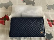 NWT Tory Burch Fleming flat wallet crossbody bag royal navy Authentic 46449 $348