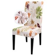 1Pcs Elastic พิมพ์ห้องรับประทานอาหารปลอกเก้าอี้ยืดที่หุ้มเบาะสำหรับตกแต่งบ้านงานแต่งงาน