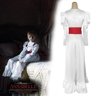 【壹店】安娜貝爾睡衣cos招魂娃娃萬圣節恐怖真人鬼娃 安娜貝爾服裝連衣裙