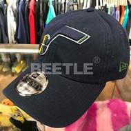 美國進口 BEETLE 現貨 NBA NEW ERA 猶他 爵士 UTAH JAZZ 藍 LOGO 老帽 男女可戴 可調式 920 NE-89