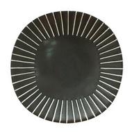 ✿╮賣南北餐具吧╭✿日本製 3.5吋白線黑方盤B-1VC3.5ZQ