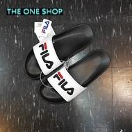 FILA 拖鞋 運動拖鞋 海灘鞋 黑白 黑色 白色 電繡 經典款 LOGO