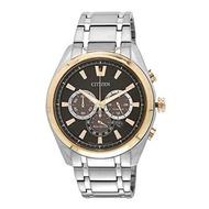 Citizen นาฬิกาข้อมือผู้ชาย Eco-Drive Super Titanium Dual Tone 100m Sapphire Japan Chronograph รุ่น CA4015-54E