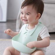 望十月寶寶圍嘴飯兜矽膠防水大碼嬰兒童小孩罩衣喂吃飯圍兜兜超軟