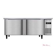 冷藏工作台 工作台冷藏冰櫃不銹鋼臥式平冷操作台奶茶店商用冷櫃廚房冰箱 【交換禮物】