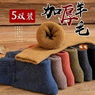 羊毛襪 羊毛襪男冬季加厚加絨長筒棉襪秋冬天超厚男士保暖長襪羊絨厚襪子