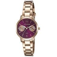 【LICORNE】力抗錶 花漾時光雙眼手錶(玫瑰金/紫 LT143LRVI)