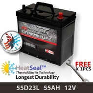 [Free Self-Installation Kit] 55D23L (55AH) 4S Professional Extreme-Life MF Maintenance Free Car Battery (24 months Warranty) equal to Amaron Go /GP MF Gold / Varta Silver /Century Gold