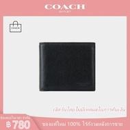 กระเป๋าสตางค์ Coach แท้/74771/กระเป๋าสตางค์ผู้ชาย / กระเป๋าสตางค์ ผู้ชาย ใบสั้น / กระเป๋าสตางค์ ผู้ชาย หนังแท้