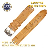 Leather Swatch Strap 21 mm Brown Motif