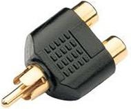 Atomic Market Gold Plated RCA AV Audio Y Splitter Plug Adapter 1 Male to 2 Female