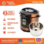 Russell Taylors Pressure Cooker Stainless Steel Pot PC-60 Rice Cooker (6L)