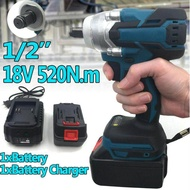 520Nm 18V 1/2 Electric Cordless Brushless Impact Wrench Fit For Makita Battery