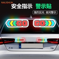 Reflective sticker safety indication direction sticker go arrow scratch reflective Sticker Car Sticker