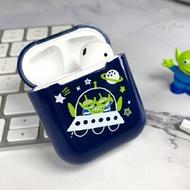 Disney迪士尼 AirPods硬式保護套 三眼怪 三眼仔 小綠人Squeeze Toy Aliens iphone耳機殼 正版3C《維克精選》