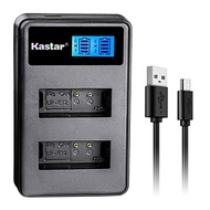 Kastar LCD Dual Slim Charger for Canon LP-E12 and Canon EOS 100D, EOS Rebel SL1, EOS M Camera Syste