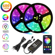 Autai LED Strip Lights 32.8Ft(10m) 600leds,Waterproof RGB Color Changing Rope Lights with Smart Bluetooth Light Strip Sync to Music,for Bedroom,TV,Party Lights,Christmas Decoration