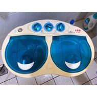 二手 功能全正常 勳風 雙槽 迷你 洗衣機 台中 自取 沒養寵物 洗衣機只洗個人衣物