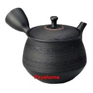 《富樂雅居》日本製 常滑燒 北龍黑泥鍔玉松皮 急須壺 (360ml)
