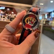 Original Gucci 古馳手錶 G-Timeless中性腕錶 刺繡老虎錶面 原裝瑞士石英手錶 情侶手錶 38mm