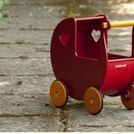 藍弧優品*丹麥品牌moover嬰幼兒木質娃娃手推助步學步車