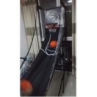 【電子記分投籃機-單人-全鋼管-長205*寬109*高205cm-1套/組】兒童籃球架 投籃遊戲 含4個3號橡膠球(直徑18cm)-56007