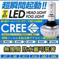 飛馳車部品~CREE製 LED大燈燈泡 無風扇防水蓋可蓋 OUTLANDER LANCER VIRAGE SAVRIN