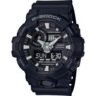 【CASIO】卡西歐手錶 G-SHOCK GA-700-1B GA-700系列絕對強悍雙顯腕錶-黑★原廠公司貨㊣