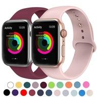แฟชั่นสายรัดซิลิโคนวงสำหรับApple Watch 42mm 38มิลลิเมตร44มิลลิเมตร40มิลลิเมตรสร้อยข้อมือยางWatch Bandsสีดำสายรัดแอปเปิ้ลดูชุด6/SE/5/4/3/2/1สายรัดข้อมือ