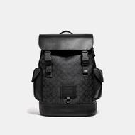 COACH กระเป๋า Rivington Backpack ผ้า Canvas เคลือบลายซิกเนเจอร์ สีเทา