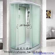 【破盤價 台風行】免運整體淋浴房淋浴房整體桑拿房整體浴室全封閉浴房鋼化玻璃矮盆新款